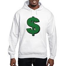 Green Dollar Sign Hoodie Sweatshirt