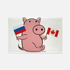 CANADA AND RUSSIA Rectangle Magnet