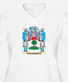 Flannery Coat of Arms - Family Crest Plus Size T-S