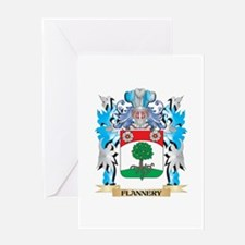 Flannery Coat of Arms - Family Crest Greeting Card