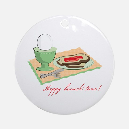 Happy Brunch Time Ornament (Round)
