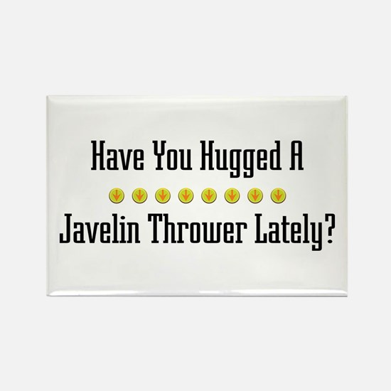 Hugged Javelin Thrower Rectangle Magnet