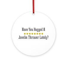 Hugged Javelin Thrower Ornament (Round)