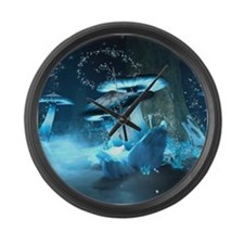 Ice Fairytale World Large Wall Clock