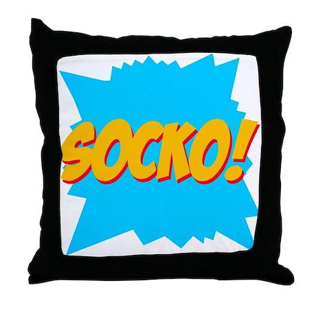 Socko! Throw Pillow