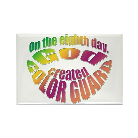 God Created Color Guard Rectangle Magnet