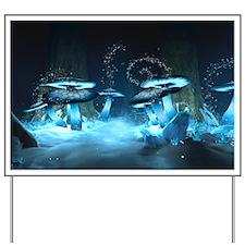 Ice Fairytale World Yard Sign