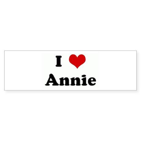 I Love Annie Bumper Sticker