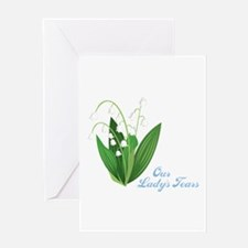 Our Ladys Tears Greeting Cards