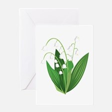 Lily Of The Valley Greeting Cards