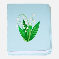 Lily Of The Valley baby blanket