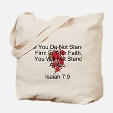 Stand Firm In Faith-Rose Tote Bag