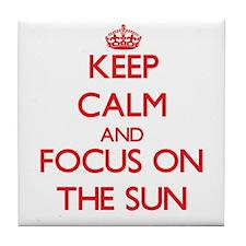 Keep calm tan Tile Coaster