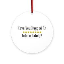 Hugged Intern Ornament (Round)