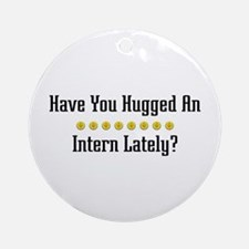 Hugged Intern Ornament (Round)