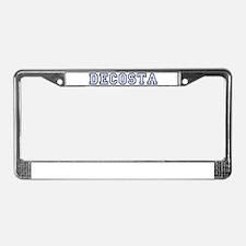 DECOSTA University License Plate Frame