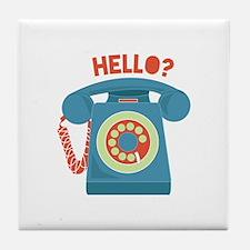 Hello? Tile Coaster