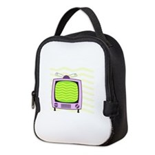 Television Neoprene Lunch Bag