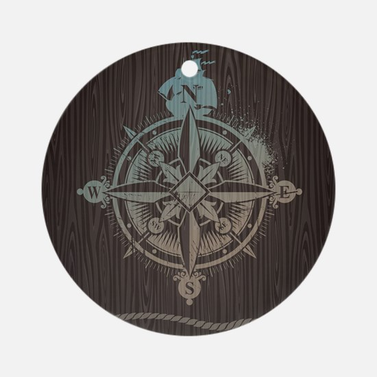 Nautical Compass Ornament (Round)