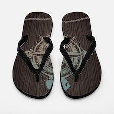 Nautical Compass Flip Flops