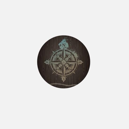 Nautical Compass Mini Button