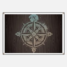 Nautical Compass Banner