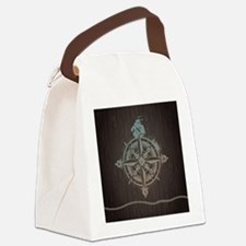 Nautical Compass Canvas Lunch Bag
