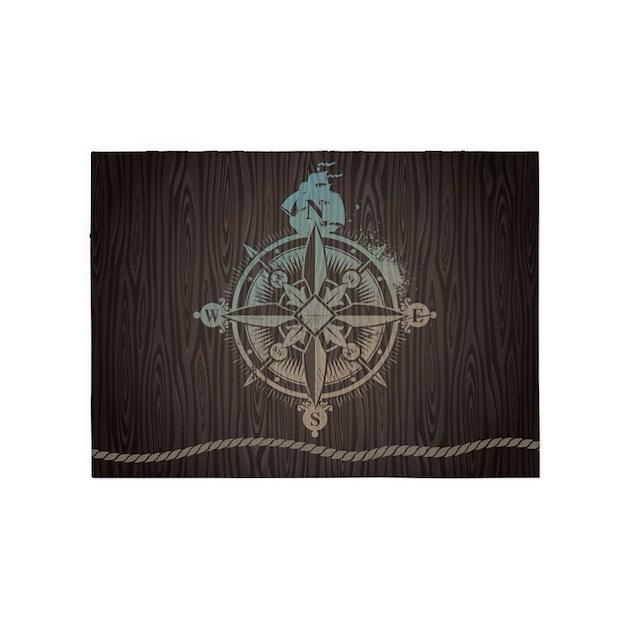Nautical Compass Rose Rug: Nautical Compass 5'x7'Area Rug By BestGear