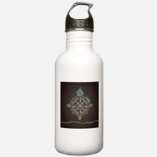 Nautical Compass Water Bottle