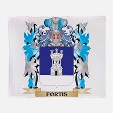 Cute Fortis Throw Blanket