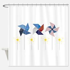 Pinwheels & Sparklers Shower Curtain