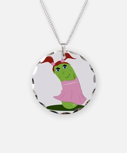 Girl Cucumber Necklace
