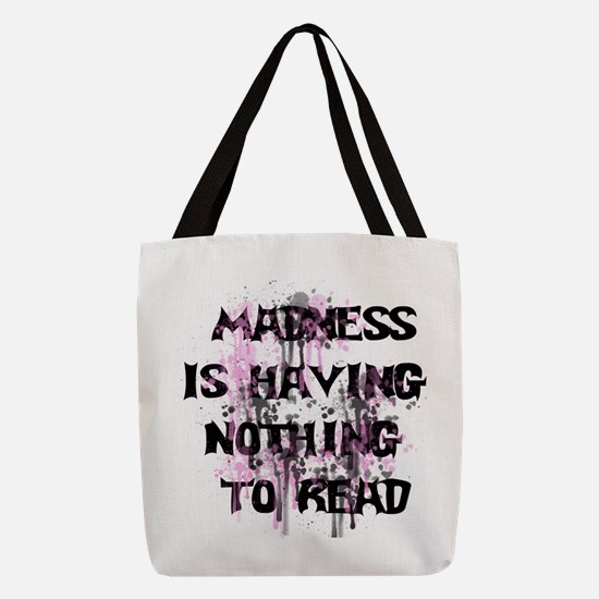 Reading Madness Polyester Tote Bag
