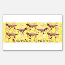Bearded Dragon Rectangle Decal