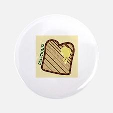 "Delicious Toast 3.5"" Button"