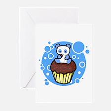 Blue Pandacake Greeting Cards (Pk of 10)