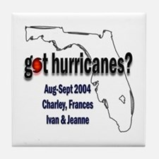 Got Hurricanes? Tile Coaster