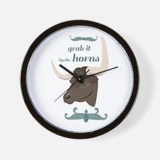 Grab Horns Wall Clock