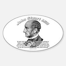 John Stuart Mill 02 Oval Decal