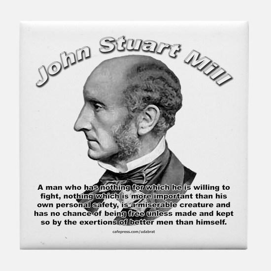 John Stuart Mill 02 Tile Coaster