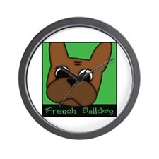 BROWN BOX FRENCHIE Wall Clock