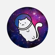 "Fat Cat in Space 3.5"" Button"
