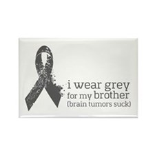 I Wear Grey For My Brother Magnets