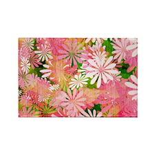 Pink Floral Magnets