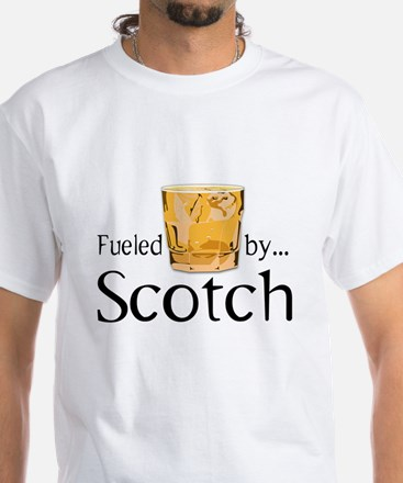Fueled by Scotch White T-Shirt