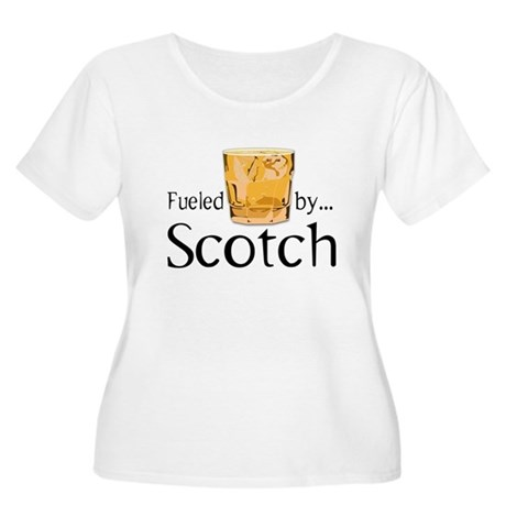 Fueled by Scotch Women's Plus Size Scoop Neck T-Sh