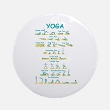 Yoga Poses Ornament (Round)