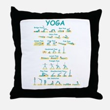 Yoga Poses Throw Pillow