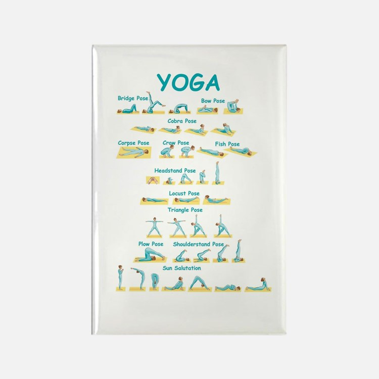 Yoga Poses Rectangle Magnet