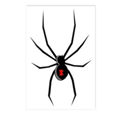 Black Widow Spider Silhou Postcards (Package of 8)